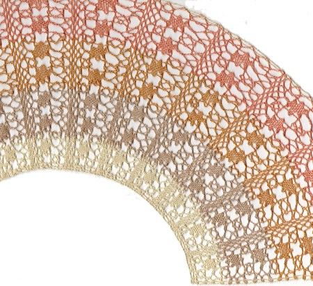 Torchon Fan Lace Making Pattern - Pampas