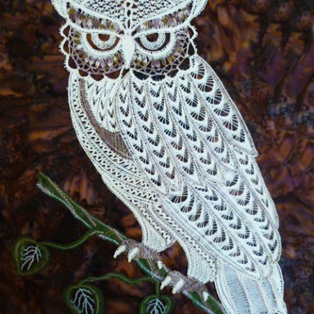 Angst the Owl - Bobbin lace pattern