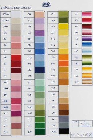 DMC Dentelle Special Colour Chart