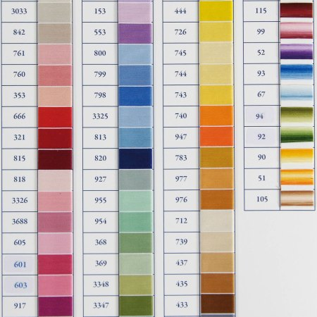 DMC Dentelle Special Colour Chart