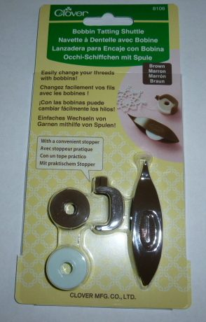 Clover - Bobbin Tatting Shuttle - Brown