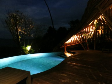 Villa by night. (Photo: MainlyMiles)