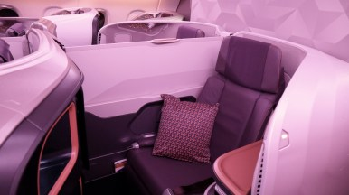A380 Business Middle Pair - Partition extended. (Photo: MainlyMiles)
