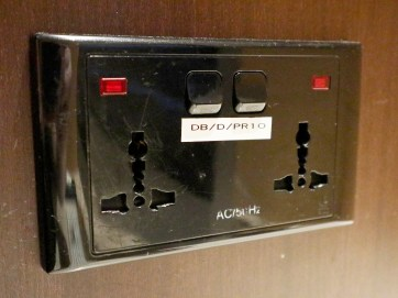 Multi-standard sockets (Photo: MainlyMiles)
