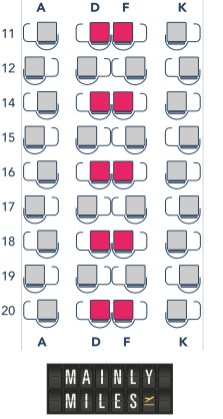 Our projected seat configuration (Image: MainlyMiles)