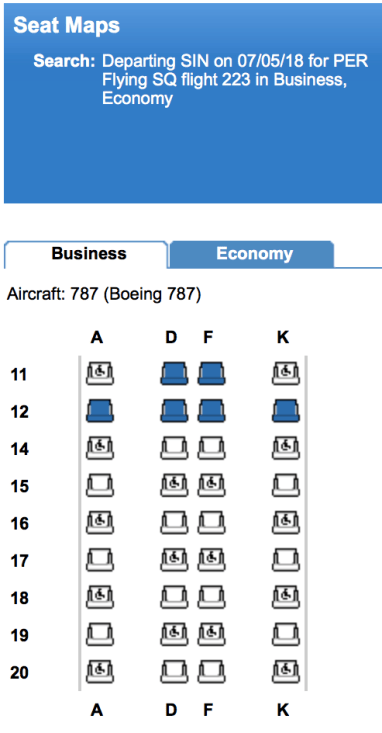 ExpertFlyer showing 787 cabin on 7th May