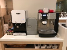 Water and Coffee Machine (UHT milk) (Photo: MainlyMiles)