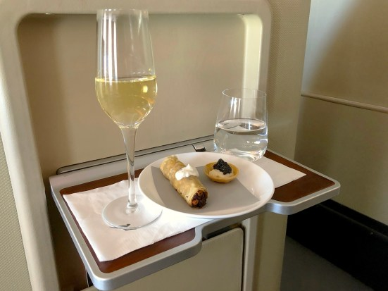 Qantas A380 First Class Amuse Bouche