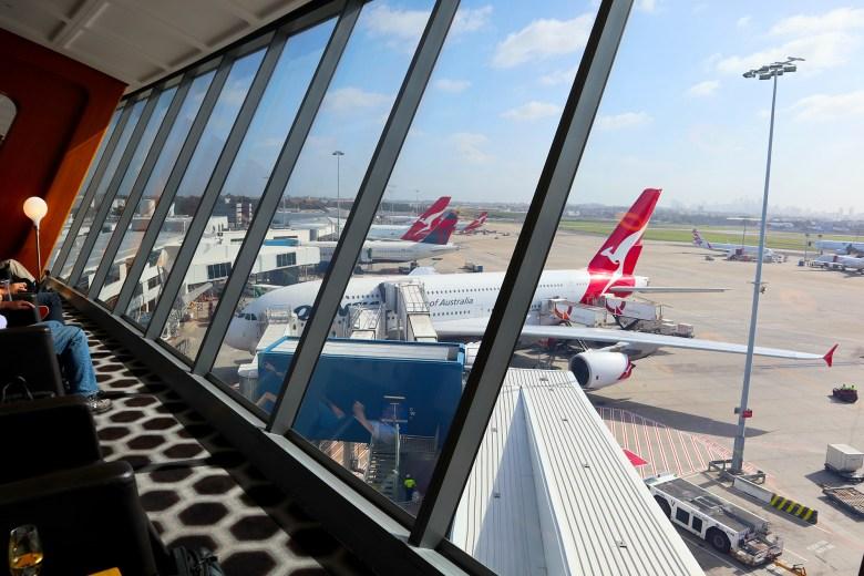 Qantas First Lounge - Window Shot
