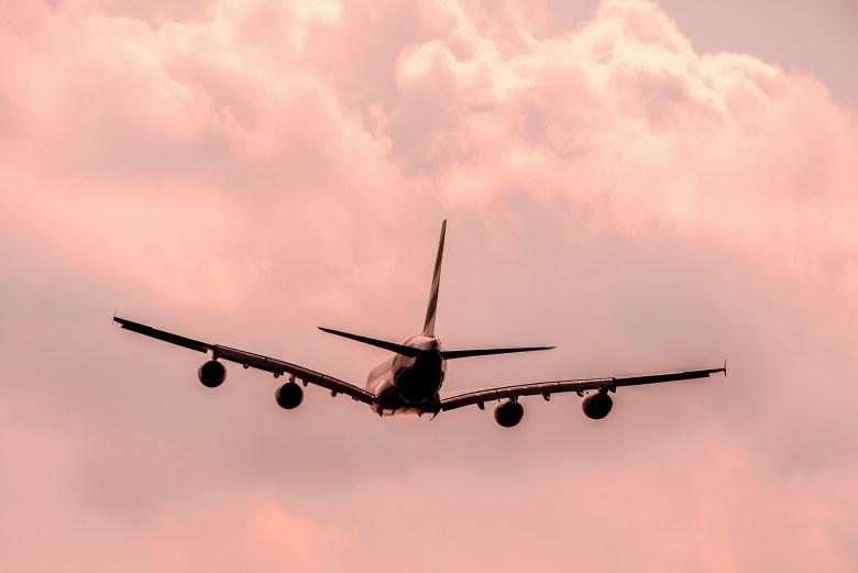 A380 Takeoff Sunset