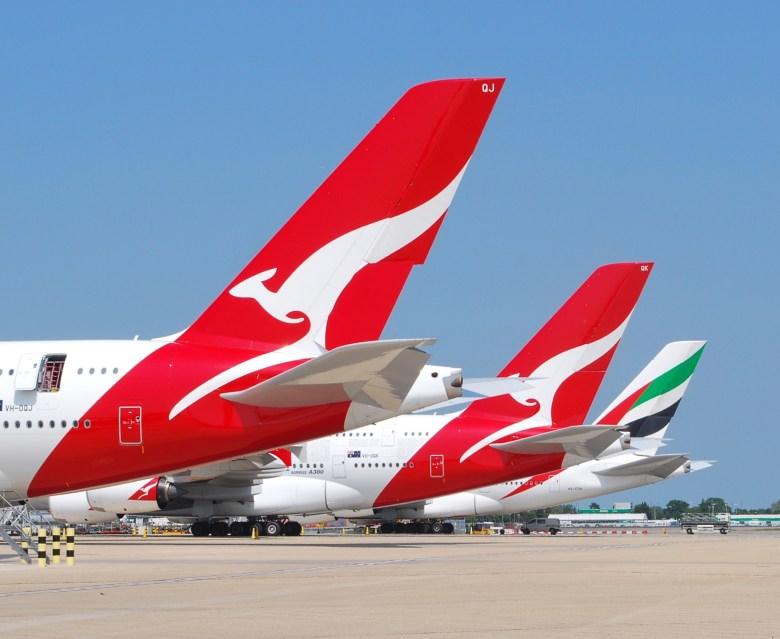 QF EK A380s LHR (Simon Boddy).jpg