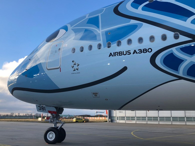 ANA First A380 Nose (Airbus)
