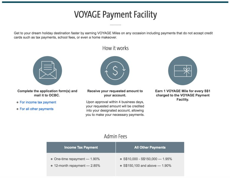 Voyage Payment Facility