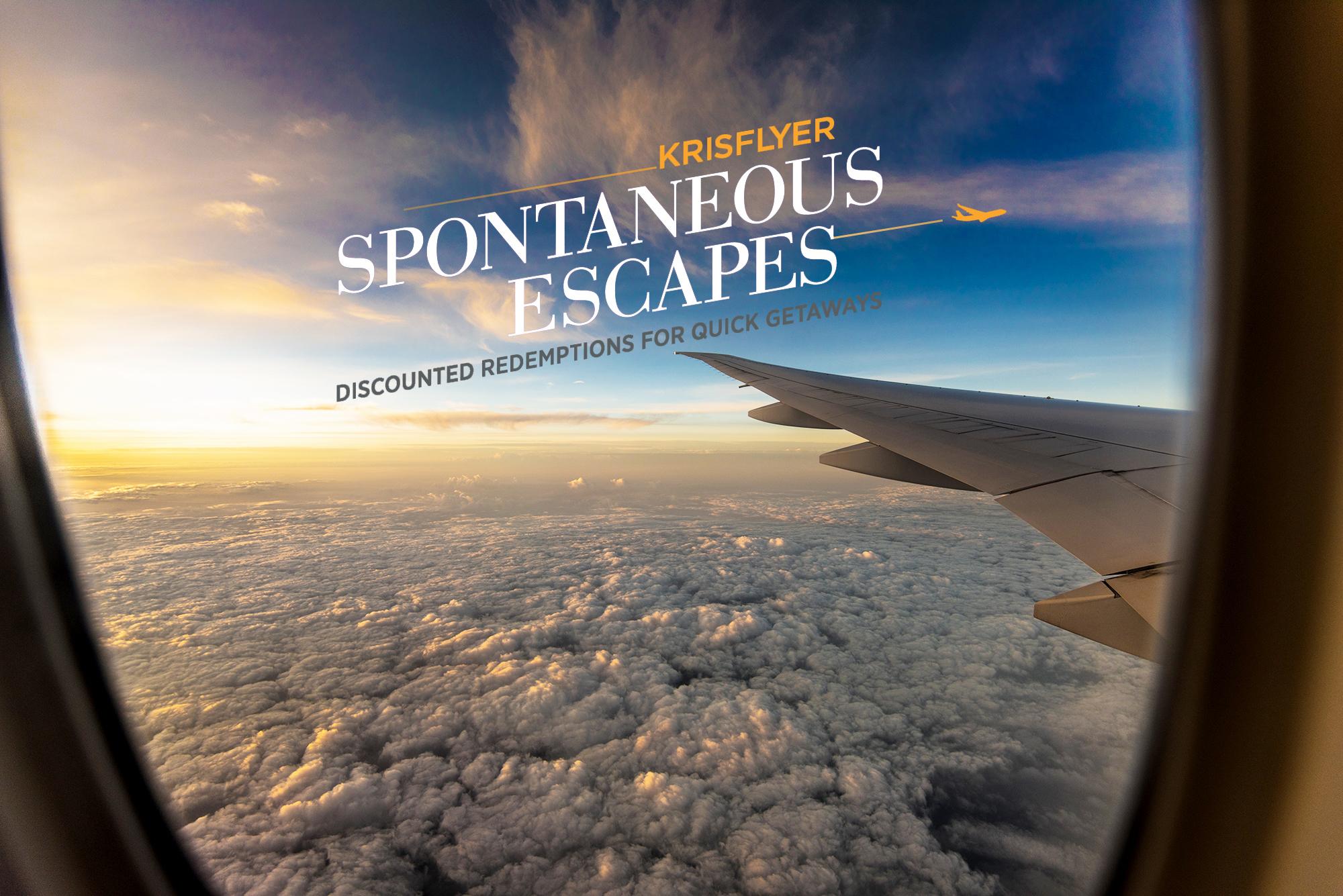KrisFlyer Spontaneous Escapes September 2019 offers