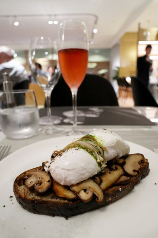 Poached eggs with mushrooms on sourdough. (Photo: MainlyMiles)