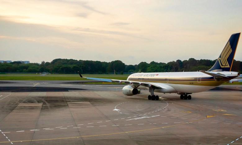 SQ A330 Nose Sunset 3 (Uskarp SS)