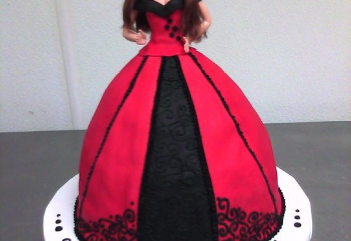 Barbie Doll Cake Main Made Custom Cakes