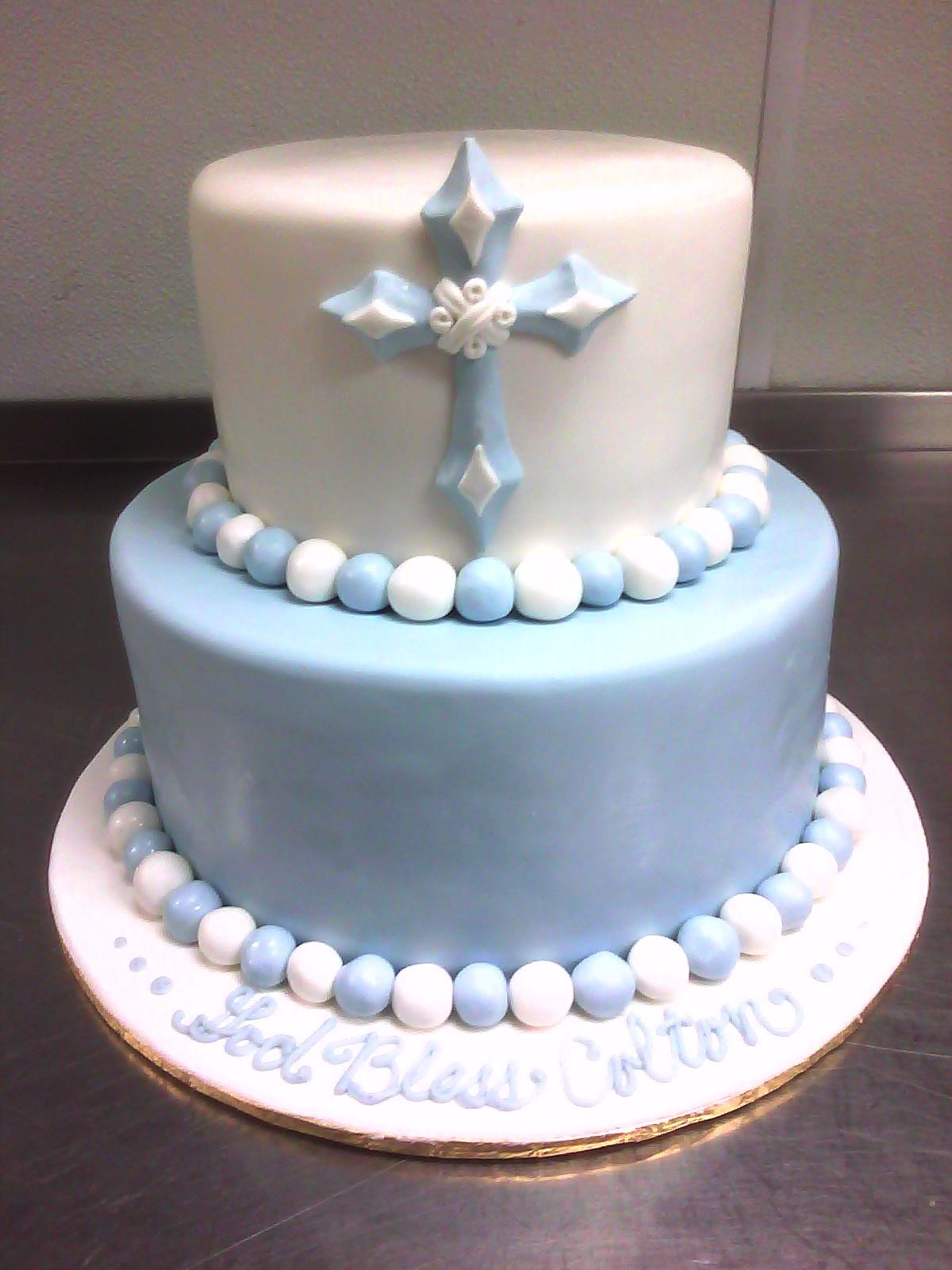 Boy S Baptism Cake
