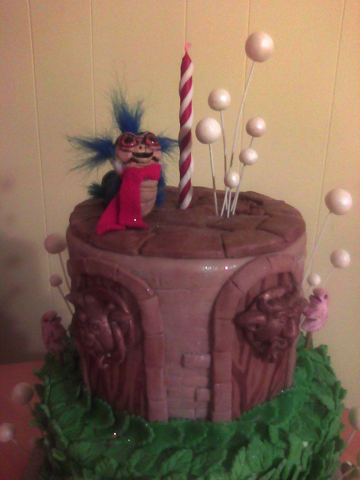 Labyrinth Worm Cake Main Made Custom Cakes