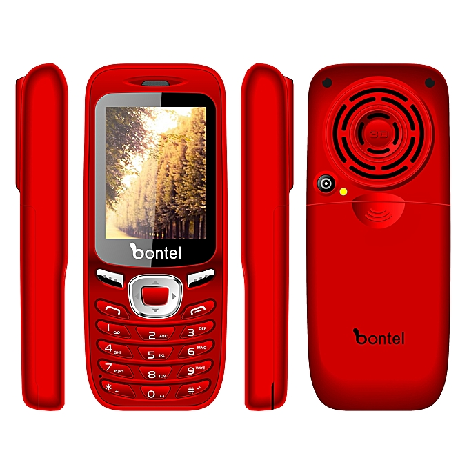 Bontel 8600-Big Battery Phone  50 Days Standby Time  Big Speaker  Fashion  Appearance-Red6400 – MainMarket Online