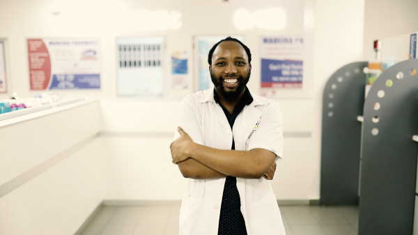 Meet Luvo Ntayiya, a pharmacy student from the Eastern Cape at Nelson Mandela University