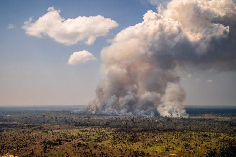 Heat spots in areas with Prodes warnings (2017-2019). Area next to the borders of the Kaxarari Indigenous territory, in Lábrea, Amazonas state. Taken 17 Aug, 2020. CREDIT: © Christian Braga / Greenpeace