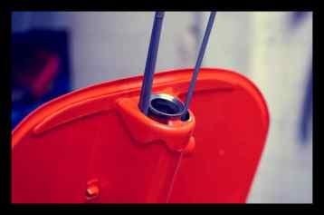 Seilzughüllen erneuert und die Lagerschale oben eingepresst