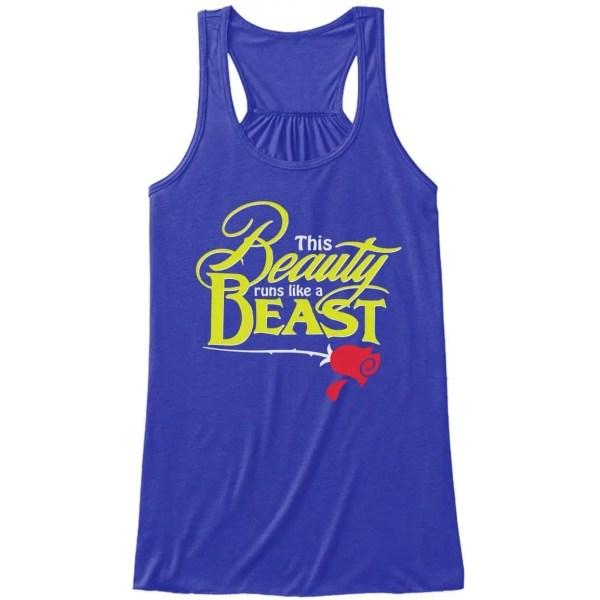 Beauty-Runs-like-a-beast-flowy-tank-ladies