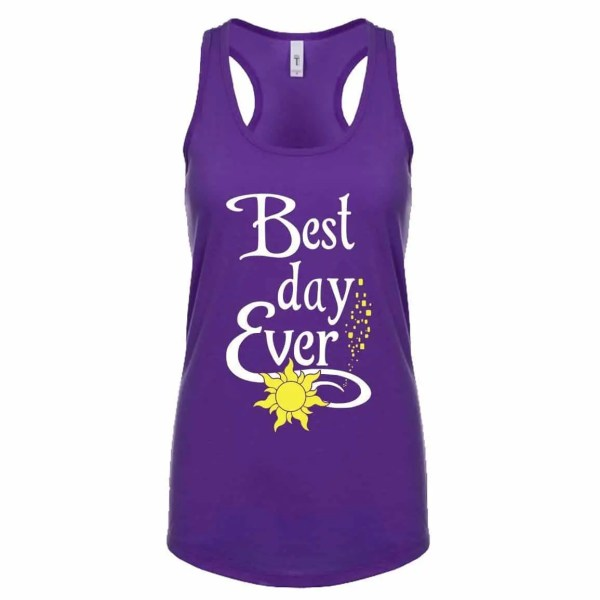 Best-day-ever-ladies-poly-cotton-tank-purple