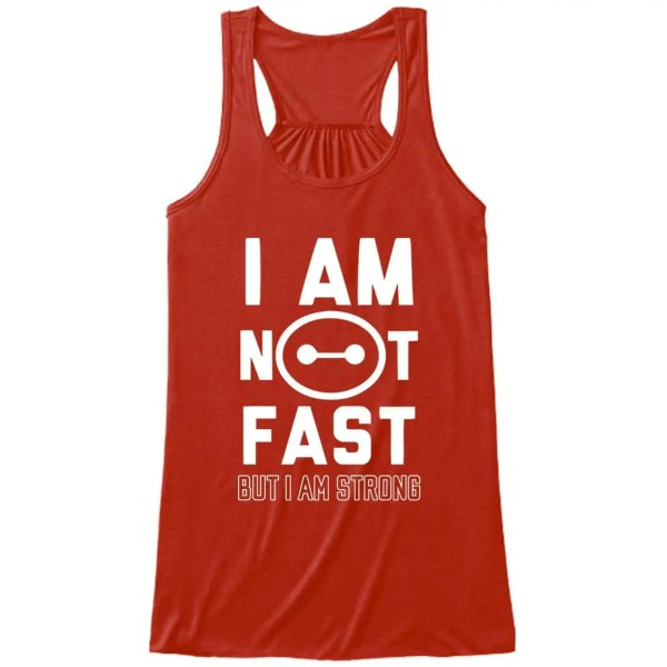 I-am-not-fast-ladies-flowy-tank-top-red
