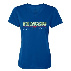 Princess-Fairest-of-them-all-ladies-performance-vneck-royal