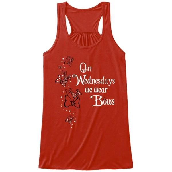 We-wear-bows-ladies-flowy-tank-red