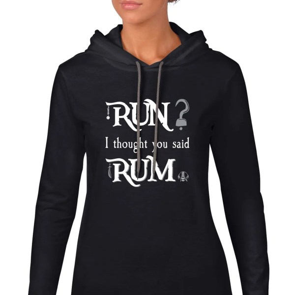 run-i-thought-you-said-rum-ladies-lightweight-hoodie-black