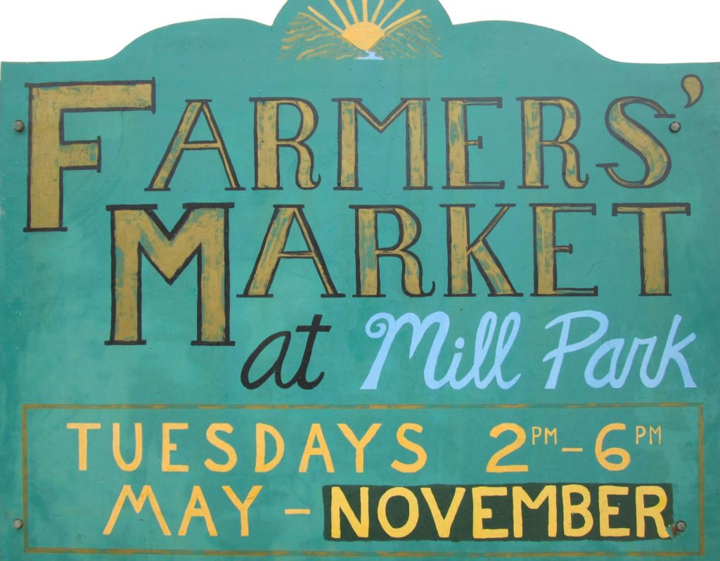 Farmers' Market at Mill Park in Augusta Maine