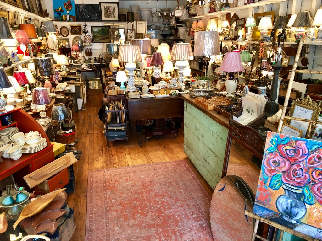 AMBIANCE Antique Store on Main Street in Belfast, Maine