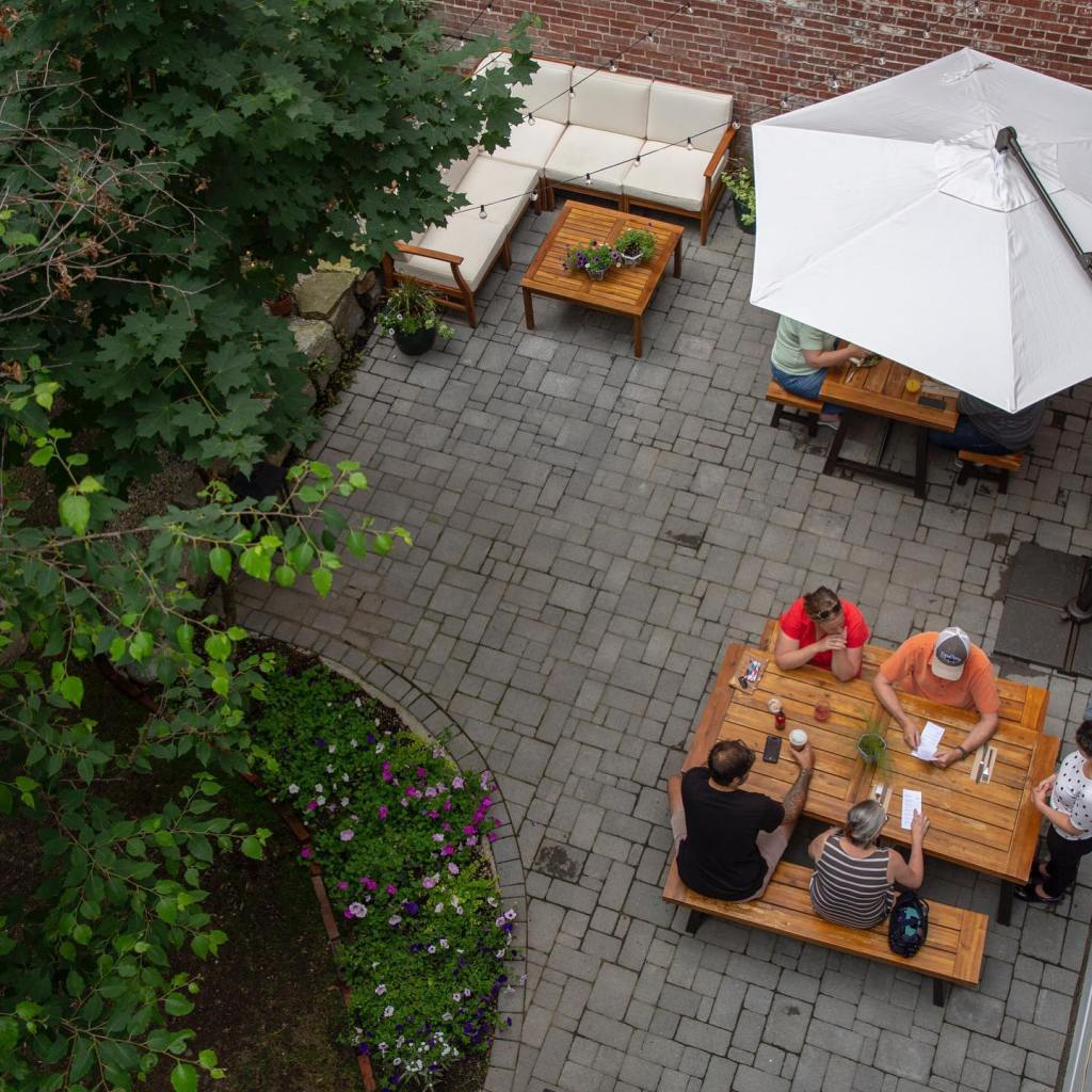 Outdoor Seating area at Part & Parcel in Biddeford, Maine