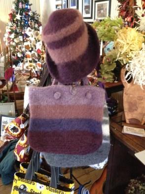 Handmade felted knit-work by Elinor.