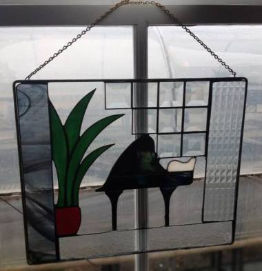 Stained glass by Juanita.