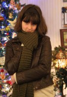 Sophia Sky Designs handknits fabulous scarves for when the weather turns bad.