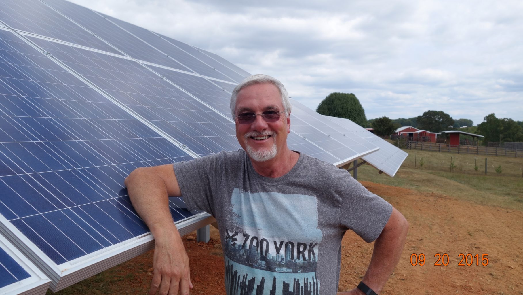 Steve Thomas with his solar panels