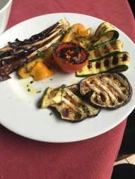 Freshly grilled vegetables.