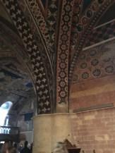Interior frescoes at the Basilica di San Francesco d'Assisi.