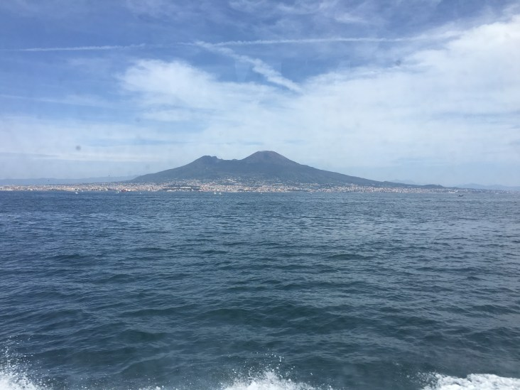 View of Mount Vesuvius.