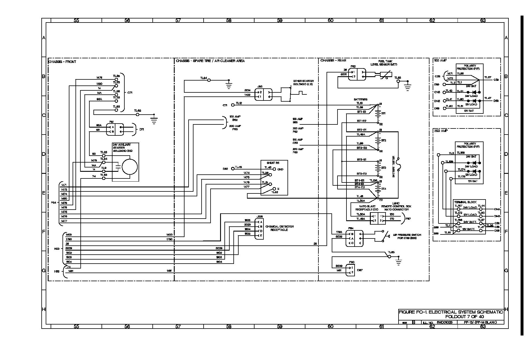 Figure Fo 1 Electrical System Schematic Foldout 7 Of 40