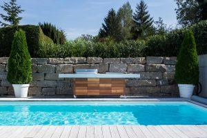 Aussenkueche Grill Beton Holz Outdoor Living Betonboden ... on Bade Outdoor Living id=43244