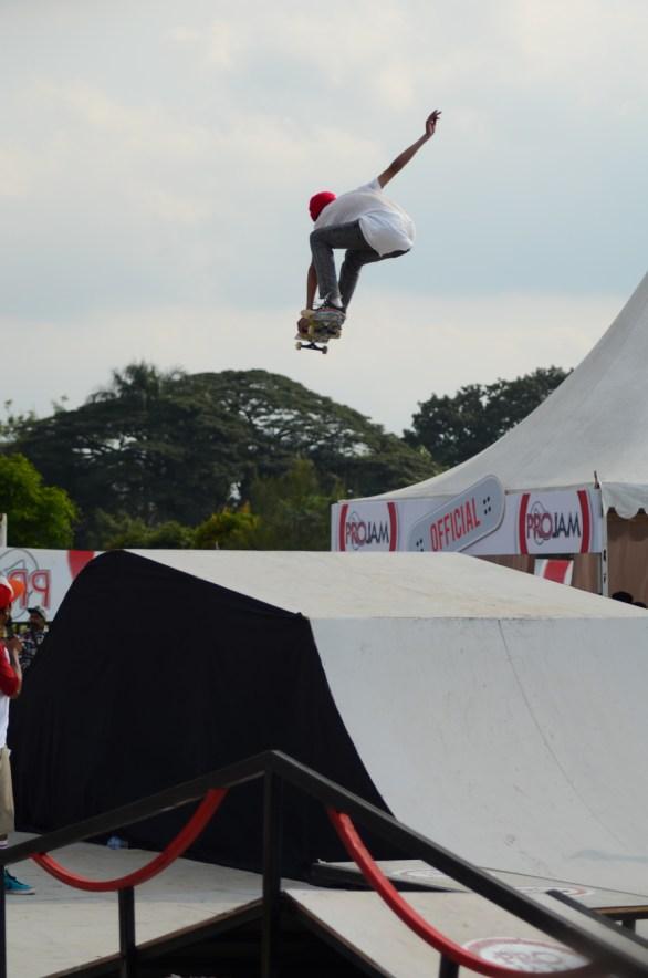 Skateboarder di event promild