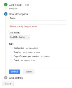 split testing, google analytics