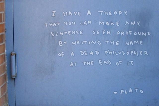 Plato zei het ook al