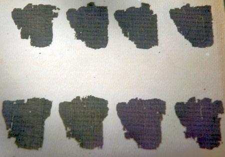 De Derveni-papyrus (Archeologisch Museum van Thessaloniki)