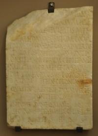 Grafsteen van Q. Aemilius Secundus, die namens Quirinius de bewoners van de Bekaa-vallei registreerde. Dit is opvallend, want dit gebied behoorde niet tot Judea.